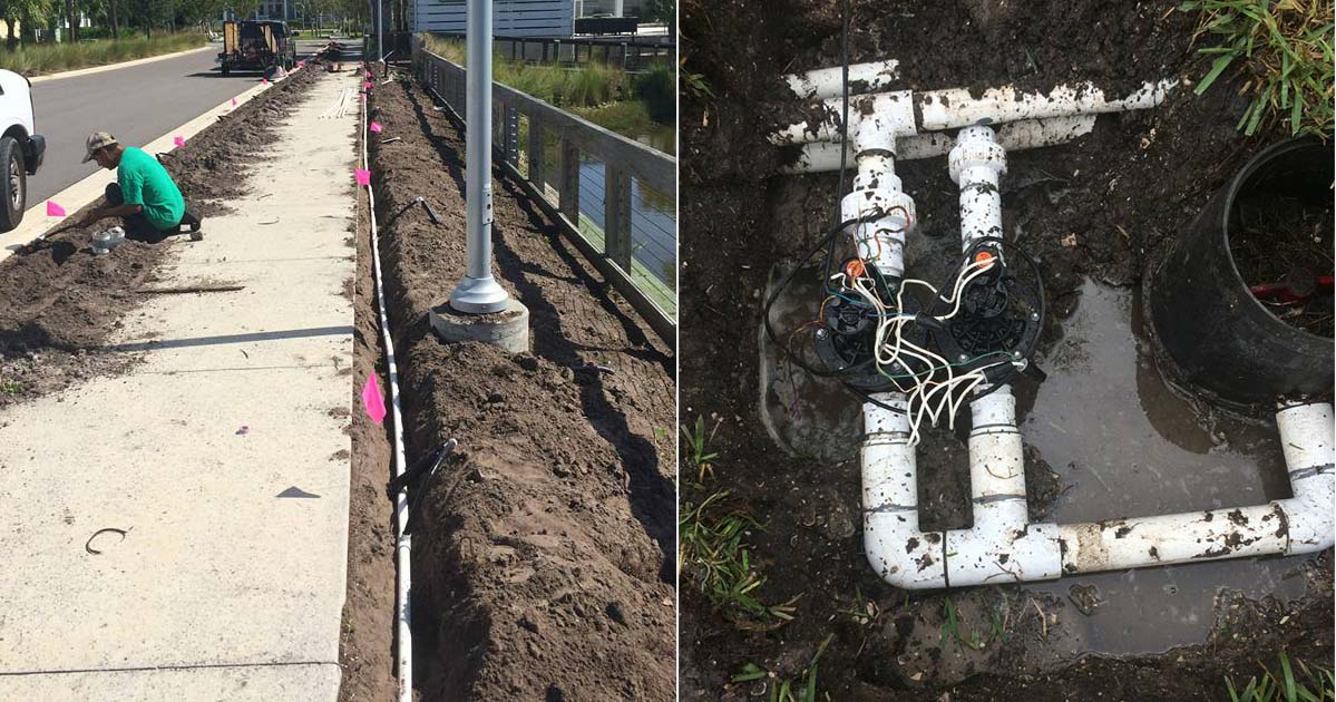New irrigation installations and sprinkler repair