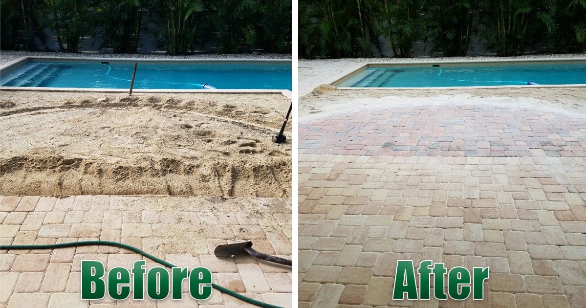 pool patio paver remodel
